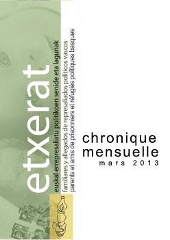 Chronique - Mars 2013 ETXERAT