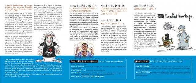 Conférences sur le thème Médias, Paix et Démocratie1