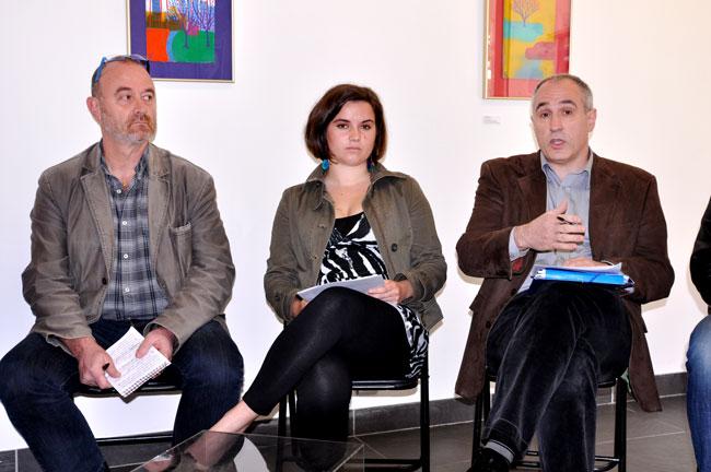 de g. à d. Jean-Marc Abadie, Maite Etcheverry, Jean-Claude Iriart