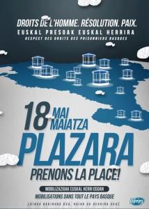 """Herrira mugimenduaren """"Plazara"""" mobilizazioa"""