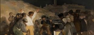 """Goya-ren """"El Tres de Mayo / Maiatzaren hiruko fusilamenduak"""", Napoleon-en soldaduek Madrileko erresistentziako kideak fusilatzen 1808ko maiatzaren 3an"""