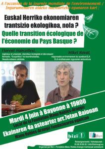Euskal Herriko ekonomiaren trantsizio ekologikoa, nola ?  @ Baiona   Bayonne   Aquitaine   France