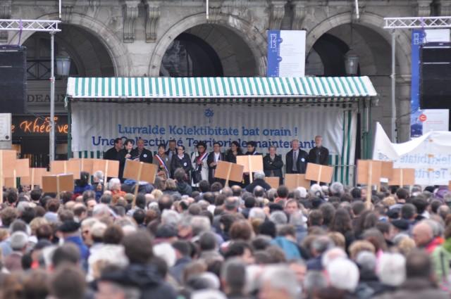 Les représentants de la Coordination Territoriale Pays Basque à la fin du Grand Rassemblement du 1er juin 2013