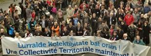 Manifestation du 1er juin en faveur de la Collectivité Territoriale Pays Basque