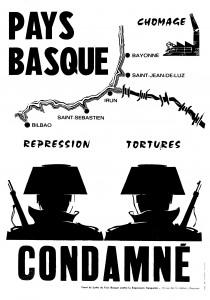 Affiche Pays Basque condamne¦ü
