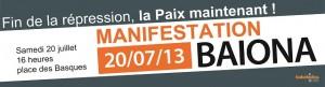 BAKE BIDEA - Manifestaldia - Manifestation @ Baiona, Euskaldunen plaza   Bayonne   Aquitaine   France