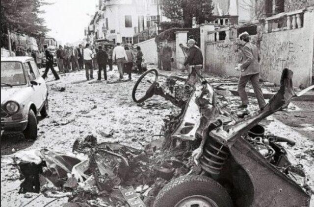 GAL-ek (Grupos Antiterroristas de Liberación edo  euskaraz Askapenerako Terrorismoaren aurkako Taldeak) Biarritzen eginiko atentatu bat