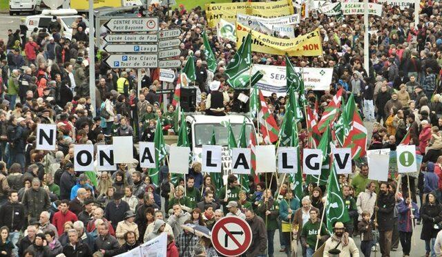Manif anti-LGV Bayonne