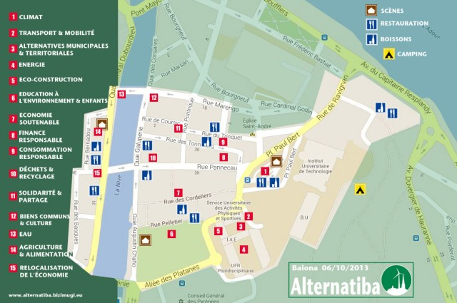Plan d'Alternatiba 2013, le village des alternatives