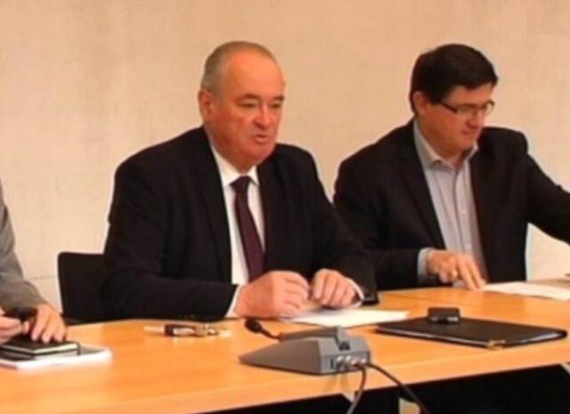 Jean-Jacques LASSERRE Président du Conseil des Elus du Pays Basque et Jean-Baptiste ETCHETO - Président du Conseil de Développement du Pays Basque