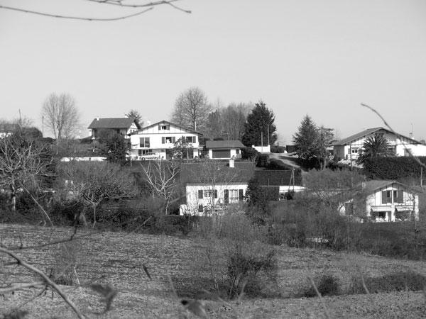 Etalement des zones pavillonaires au détriment des terrains agricoles.