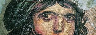 Eneide-Tête de femme, mosaïque, IIe siècle apJCTurquie