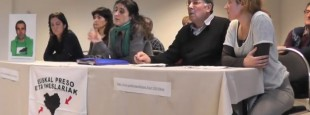 Conférence de presse à Bayonne le 12 février des proches et des avocats d'Ibon Fernandez Iradi en présence de médecins.