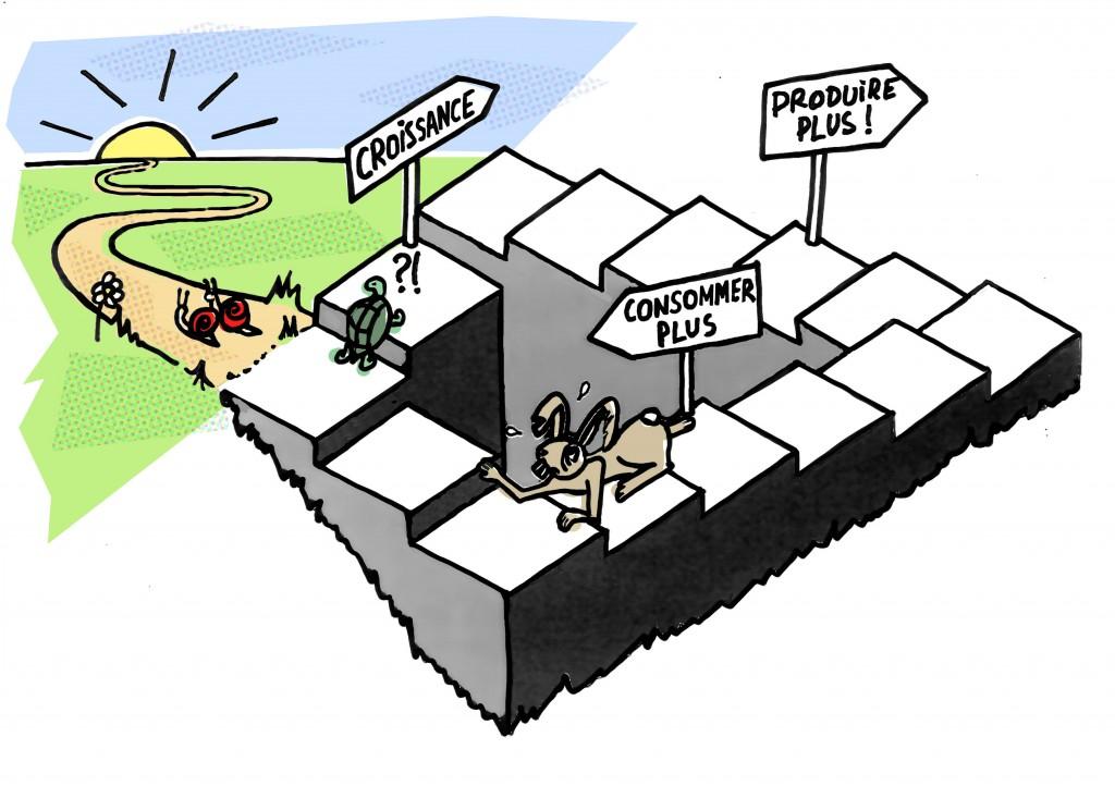 """""""Nous avons besoin aujourd'hui d'une opération d'envergure sur les plans idéologique, politique et pratique en intégrant la question fondamentale de la nouvelle ère: la transition socio-écologique (qu'elle soit contrainte ou volontairement organisée) aura des conséquences extraordinaires sur la vie de tous les citoyens et dans tous les domaines de la société. Cela nous amènera à repenser la globalité : comment organiser la société sans croissance."""""""