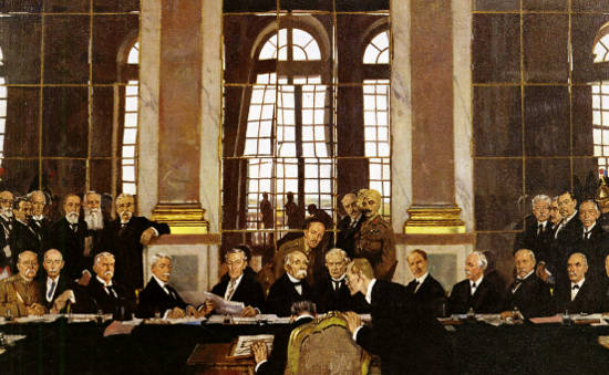 """""""Traité de Versailles"""" : 1919an garaileek galtzailea peko errekan sartu zuten"""