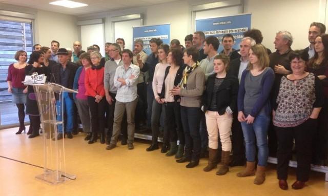 Candidat-e-s d'EH Bai aux départementales