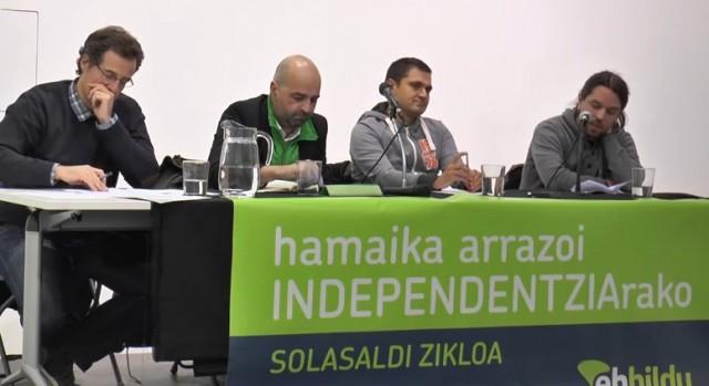 Independentzia Euskal Herrian- Nazioartea eta gure errealitatea-hitzaldia