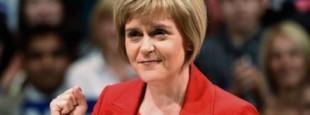 Nicola Sturgeon, présidente du SNP et premier ministre du gouvernement autonome d'Ecosse.