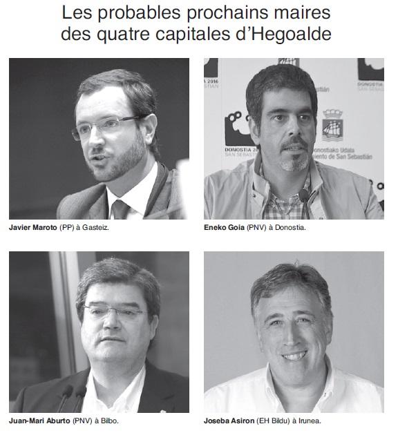 Les probables prochains maires des 4 capitale
