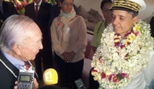 Le préfet Beffre accueilli à Tahiti par le président Flosse, repris de justice multirécidiviste.