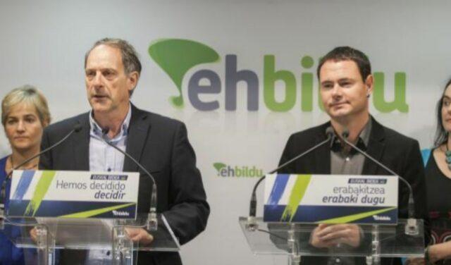 Adolfo et Hasier Arraiz, leaders d'EH Bildu en Navarre et dans la communauté Euskadi.