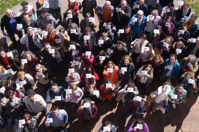 34 ikastoletako buraso, irakasle eta langileen 100 ordezkarik Euskal Elkargoari BAI! erran diote Kanbon #Helep