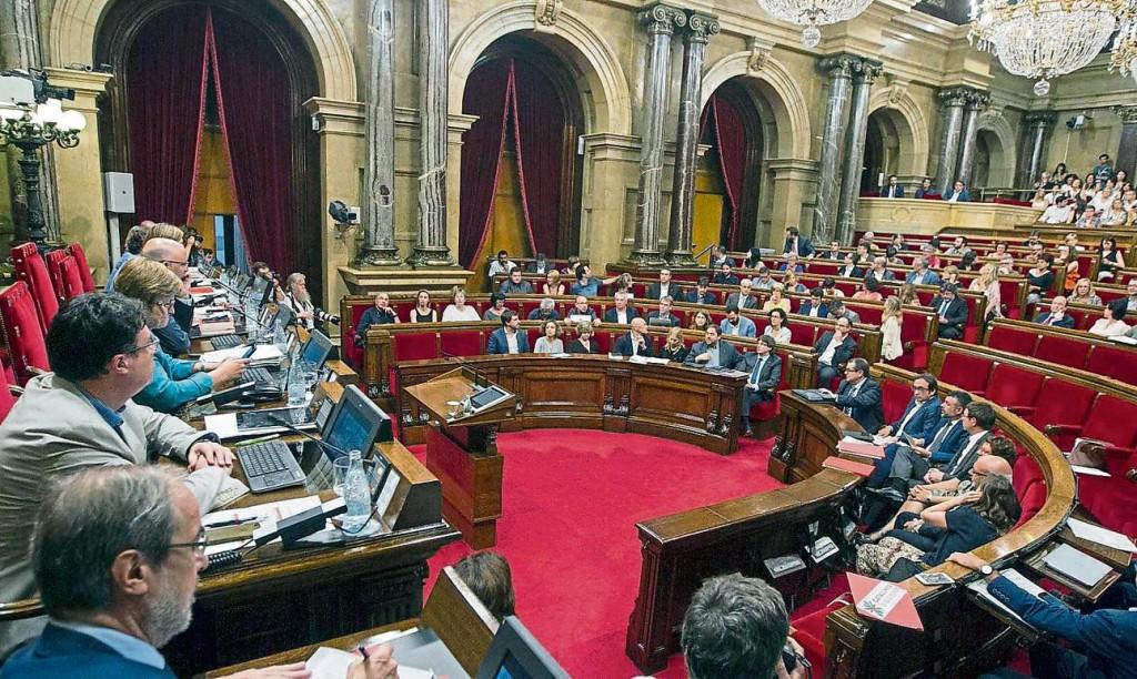 Le Parlament de Catalunya au moment du vote de la Résolution de la Comissió del Procés Constituent