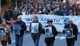 Manifestation pour la libération des prisonniers basques malades , Bayonne, Samedi 19 Novembre 2016. (Photo Bagoaz.eus / Bob Edme)