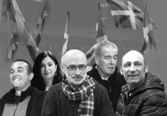 Les faiseurs de paix (bakegileak) : S. Etchégaray, B. Molle, M. Berhocoirigoin, M. Bergouignan, Txetx Etcheverry