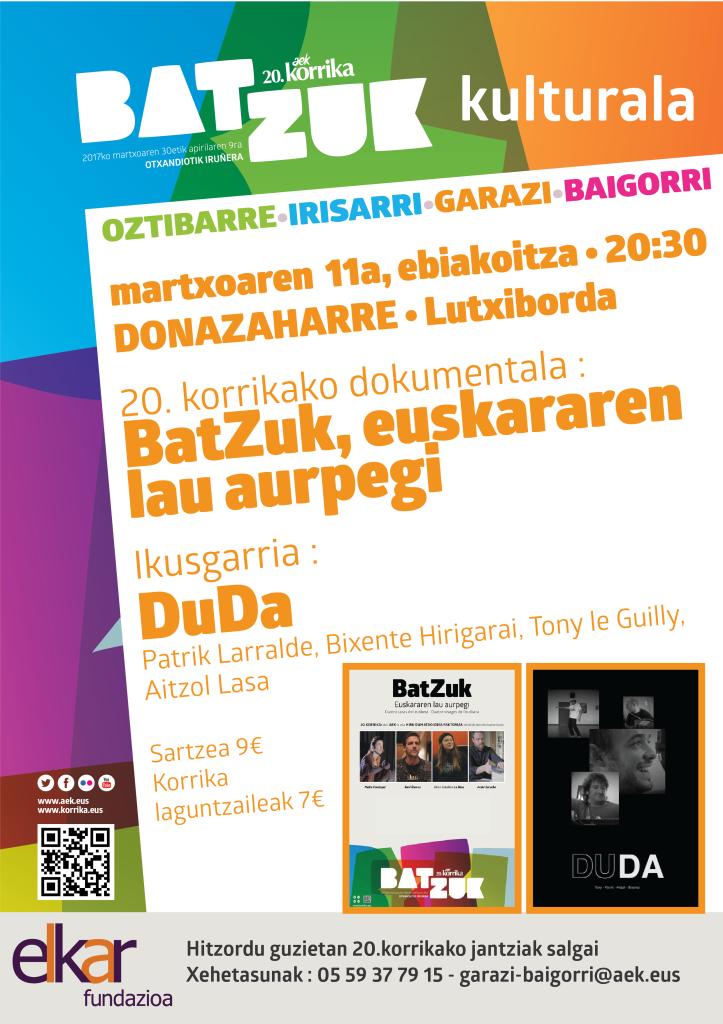 20.korrika kulturala ÔÇó Euskararen lau aurpegi + Duda