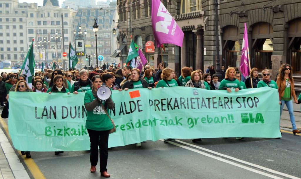 Mobilisations contre la précarité toujours en cours dans les maisons de retraite de la Diputacion de Foralede Bizkaia.