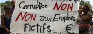 Comité d'accueil de Fillon à la Réunion le 11/02/2017