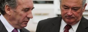 François Bayrou, le président du Modem et maire de Pau et Jean-Jacques Lasserre, le président des Pyrénées-Atlantiques.