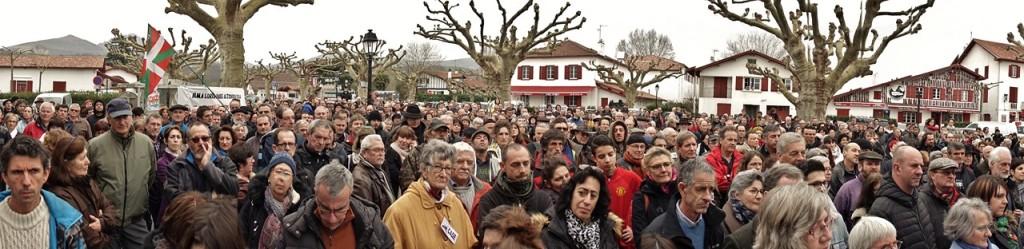 Rassemblement contre les mines d'or (Espelette le samedi 11 février 2017)