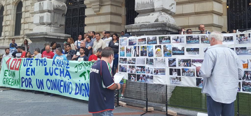 100ème jour de grève dans l'usine de Traitement Mécano Biologique des Déchets (TMB) de la Diputacion Forale de Bizkaia. Victoire après six mois.
