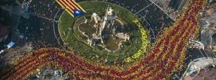 BARCELONA. 11.09.2014Onze de setembre Diada v Via Catalana. FOTO FERRAN SENDRA