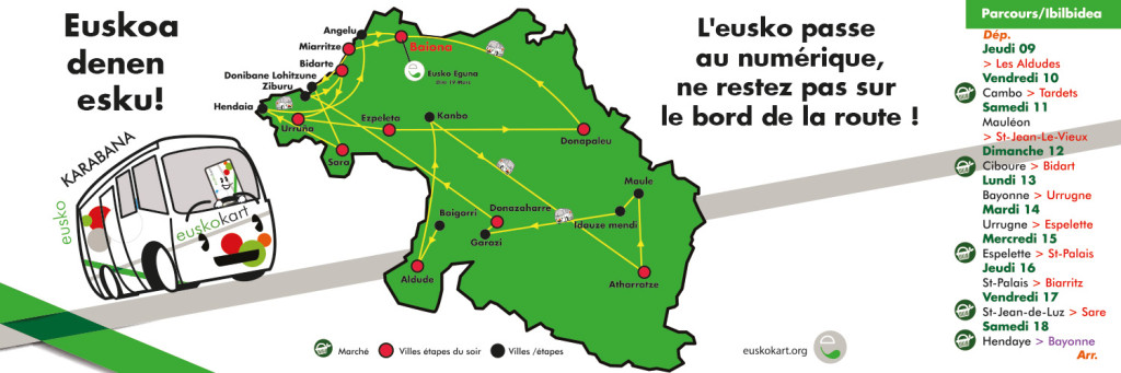 Des Aldudes à Bayonne, du 9 au 18 mars, l'EuskoKaravane sillonnera le Pays Basque Nord à votre rencontre !