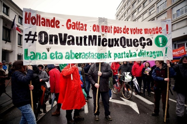 Manifestation contre la loi El Khomri à Bayonne.
