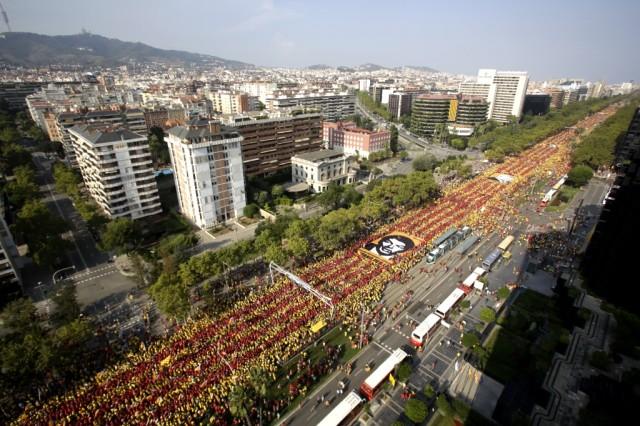 Diada 2014 à Barcelone