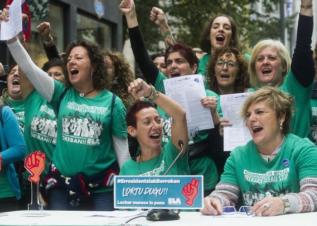 Le 27 octobre, les salariées des résidences de Bizkaia ont obtenues leurs revendications après deux ans de lutte et 370 jours de grève.