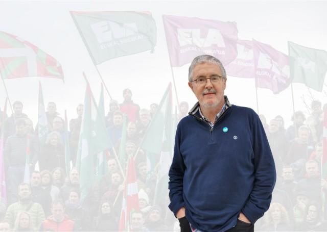 Le secrétaire général du syndicat ouvrier ELA, Txiki Muñoz.