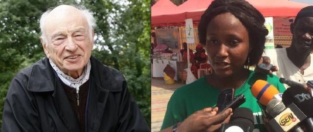 Edgar Morin et Mariama Diallo, le parrain et la marraine d'Alternatiba 2018