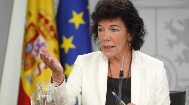 Celaa andrea Sanchez gobernuaren hezkuntza ministroa