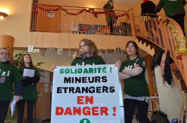 Occupation des locaux d'Isard COS à Pau le 7 janvier 2019 (1)