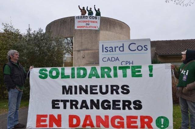 Occupation des locaux d'Isard COS à Pau le 7 janvier 2019 (2)