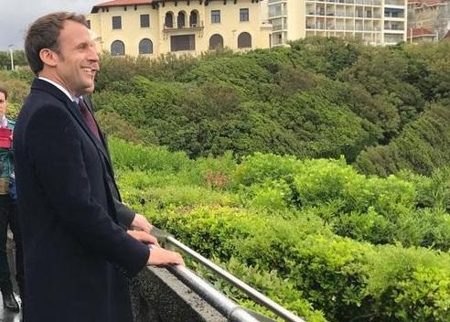 Emmanuel Macron à Biarritz en mai dernier.