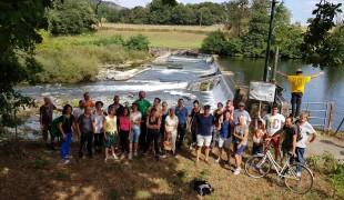 Départ de la Marche Climat en Barnekalde, le 21 septembre 2019, depuis le barrage du moulin de Berrhoko.