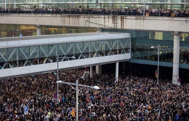 Blocage de l'Aéroport de Barcelone