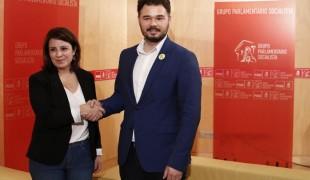Adriana Lastra (PSOE) et Gabriel Rufián (ERC)