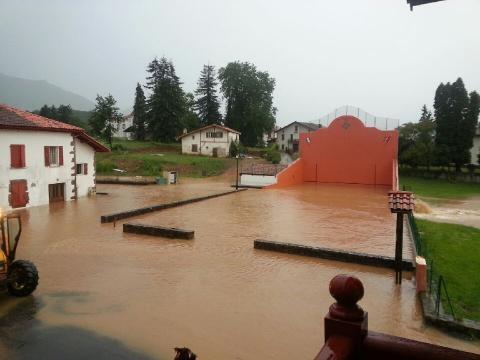Inondations à Ascarat